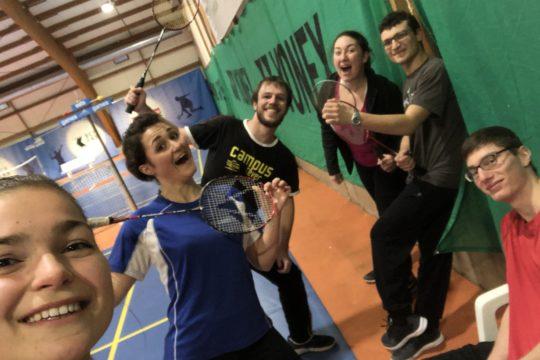 Réunion badminton routiers