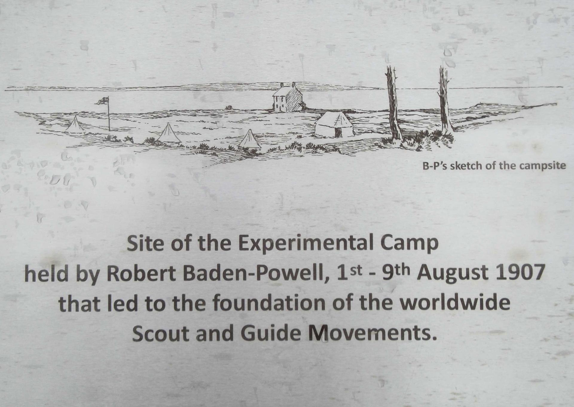 Premier camp scout