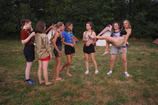 Camp d'été éclaireuses 2020 première semaine